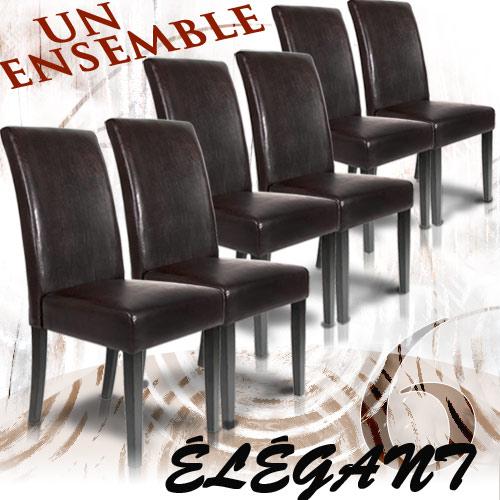 Ensemble De 6 Chaises Lgantes Pour Une Ambiance Prestigieuse