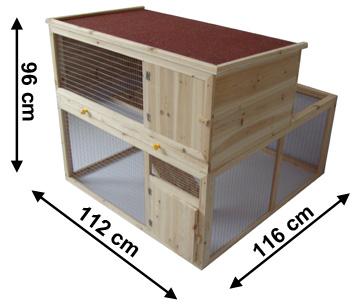 Clapier cage lapins for Construire une cabane a lapin exterieur