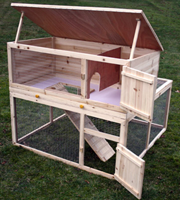 Cage a lapin en bois plan for Cabane pour lapin exterieur