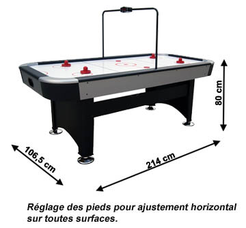 Air hockey table dimensions