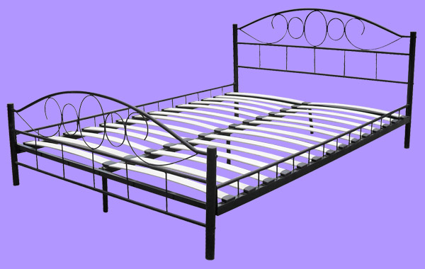 lit metalique awesome encasa lit en mtal x blanc avec